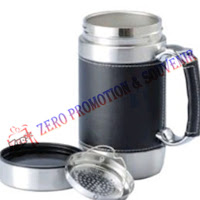 Mug Stainless Office Leather