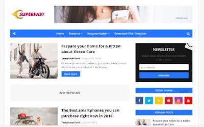 SUPERFAST-Template Blog Terbaru Dan Tercepat Dari Templatesyard