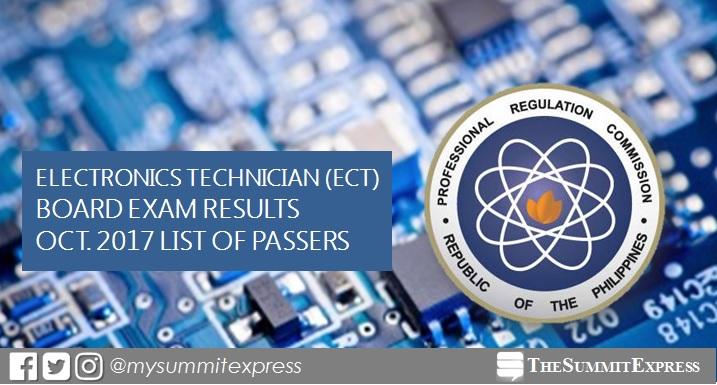 October 2017 Electronics Technician ECT board exam passers list