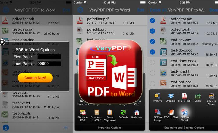 VeryPDF PDF to Word - 將PDF轉檔可編輯的Word