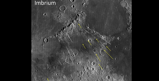 Grooves and gashes associated with the Imbrium Basin on the Moon have long been puzzling. New research shows how some of these features were formed and uses them to estimate the size of the Imbrium impactor. The study suggests it was big enough to be considered a protoplanet. NASA/Northeast Planetary Data Center/Brown University