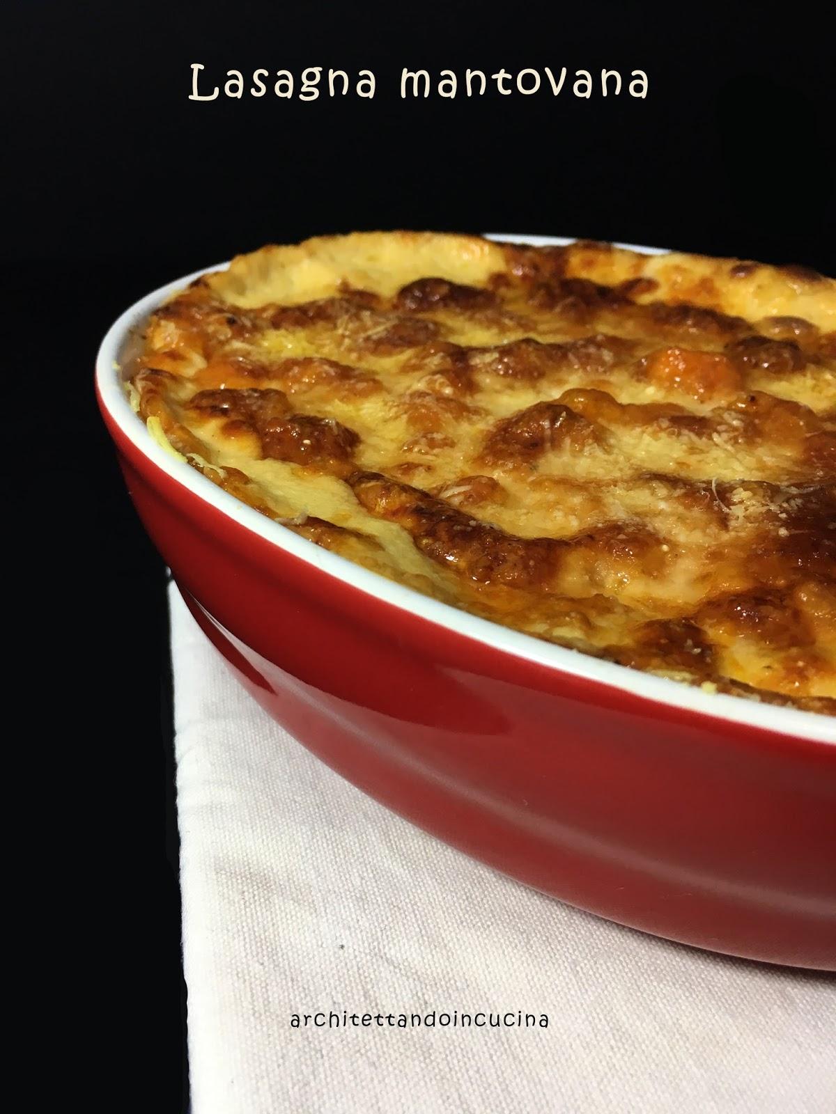 Lasagna mantovana con amaretti zucca e mostarda di mele for Mostarda di mele mantovana