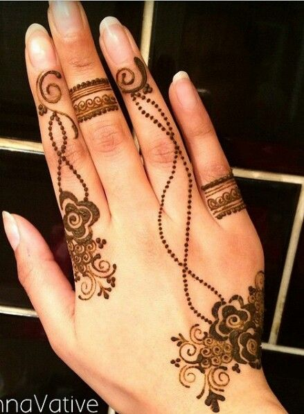 Gorgeous Ring Mehndi Designs For Fingers