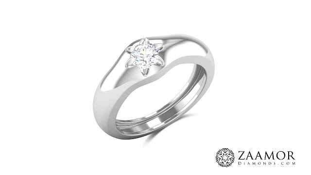 Amina Bezel Set Men's Solitaire Ring