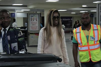 #GhanaMeetsNaija17 - Photos: Tiwa Savage Arrives In Ghana For Ghana Meets Naija Tomorrow