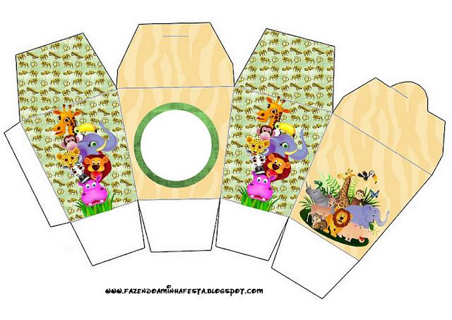 Baby Jungle Free Printable Chinese Take Away Box.
