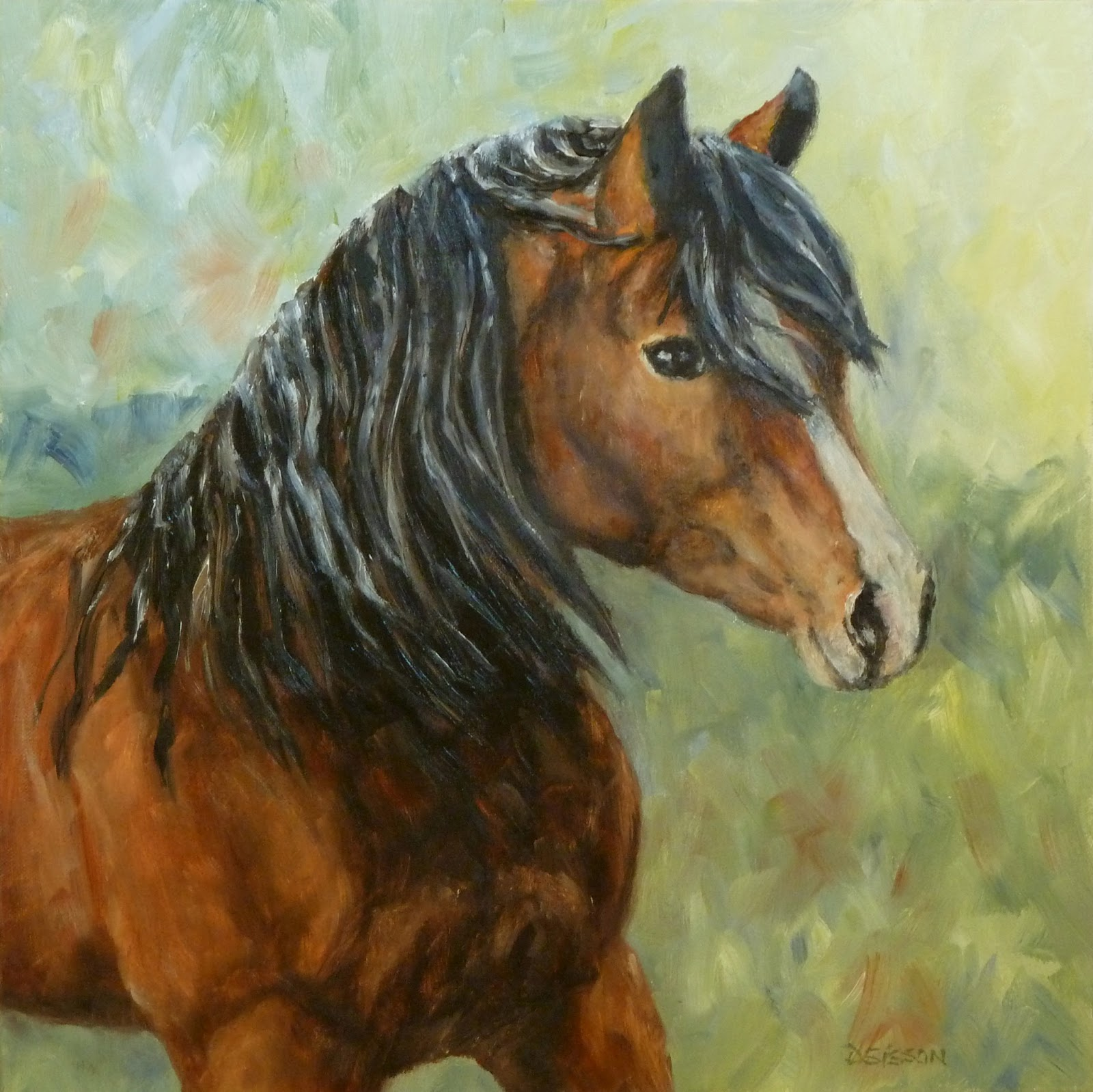 Daily Painting Projects: Mystic Exmoor Pony Oil Painting ...