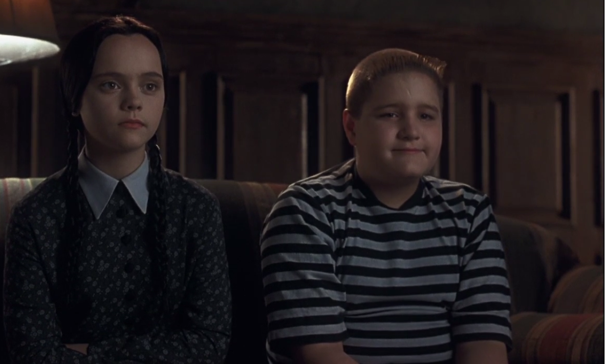 Children why do you hate the baby gomez addams we dont hate him we just wanna play with him pugsley addams especially with his head wednesday