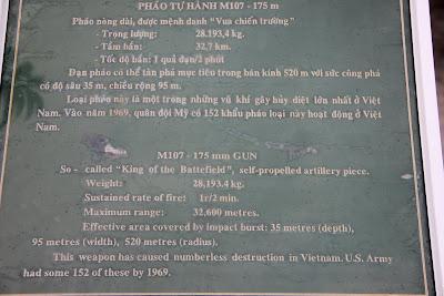 Vietnam M107 Howitzer Caratteristiche