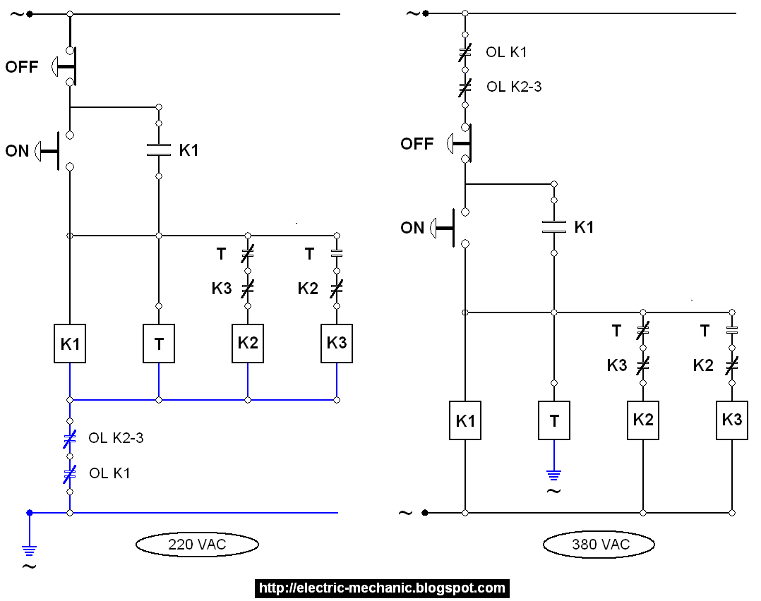 star delta starter wiring diagram with timer external photocell switch pengaplikasian kerja no dan nc proteksi motor listrik