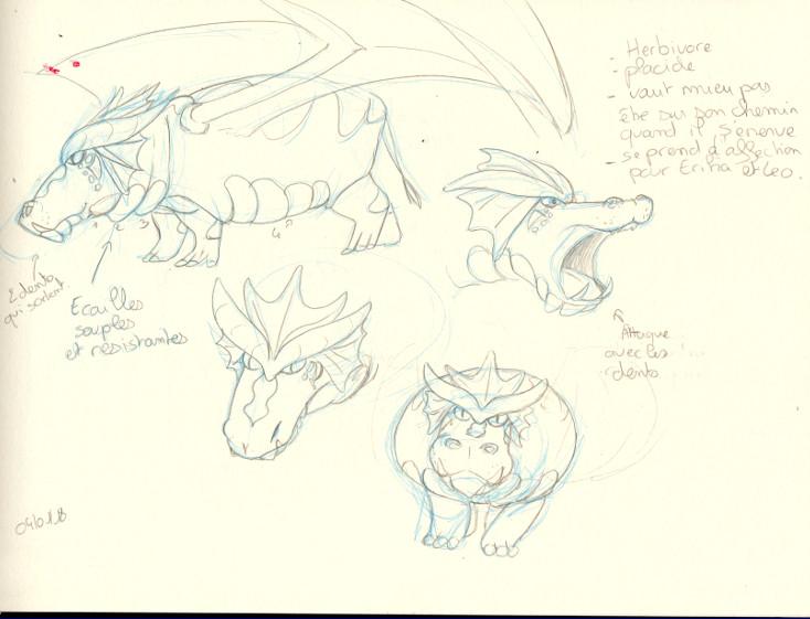 [Projet BD]Erika, chasseuse de dragon Dragon01