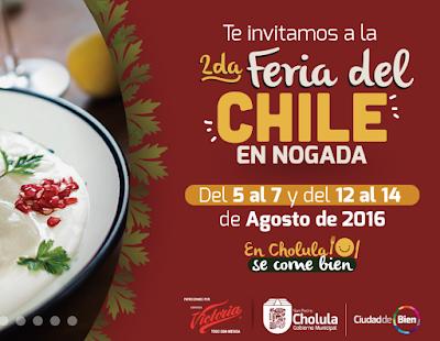 feria del chile en nogada cholula 2016