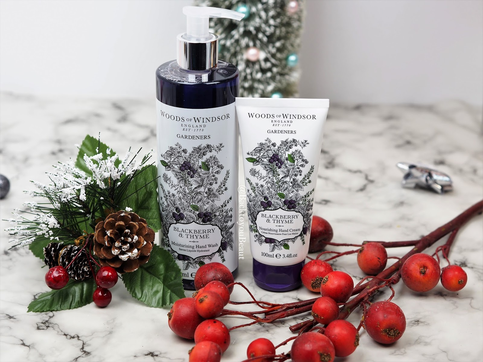 Woods of Windsor Blackberry & Thyme Moisturising Hand Wash and Nourishing Hand Cream