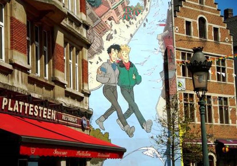 Quadrinhos prédios de Bruxelas