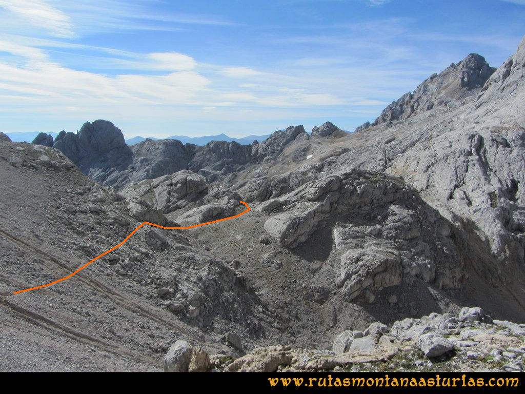 Ruta Urriellu, Canal de la Celada, Collada Bonita, Moñetas, Vegas del Toro: Camino a Moñetas