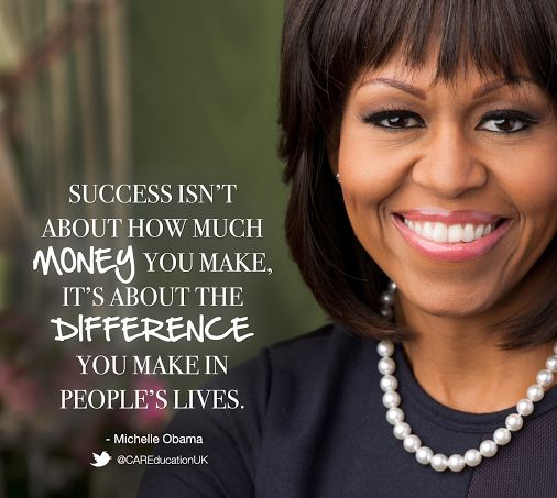 Quote of the Day!!!! By Michelle Obama