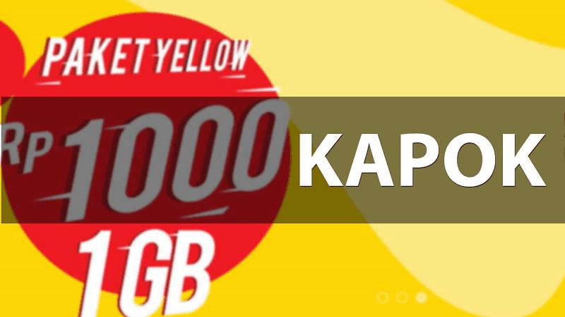harga paket yellow naik 1500 rupiah
