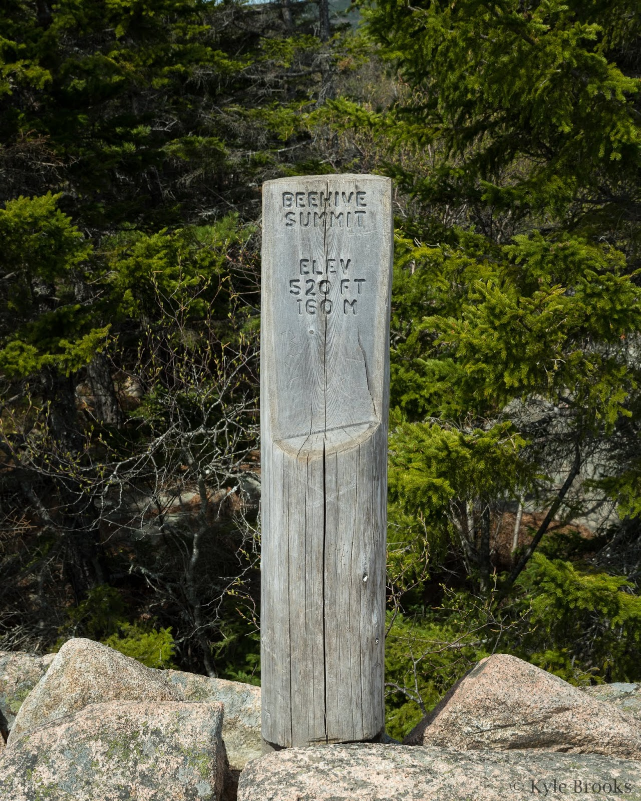 The Beehive Summit Marker