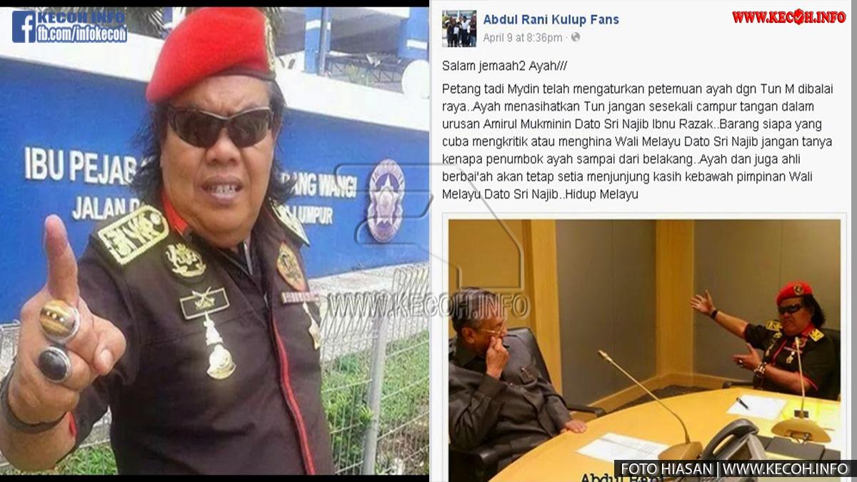 Raja Report Abdul Rani Kulup Ugut Dan Akan Tumbuk Siapa Yang Kritik Najib?
