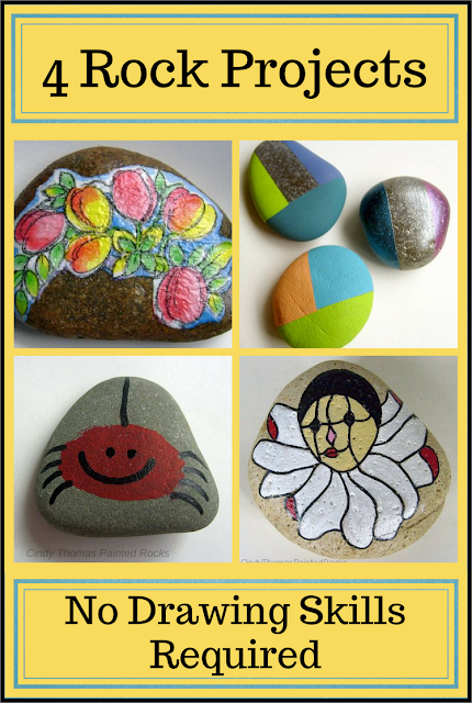 4 Easy Painted Rock Projects by Cindy Thomas