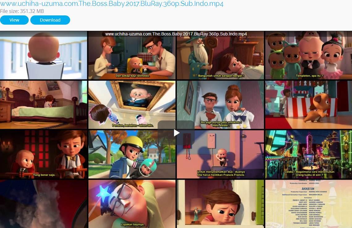 Screenshots Film Gratis The Boss Baby (2017) BluRay 360p Subtitle Indonesia 3gp