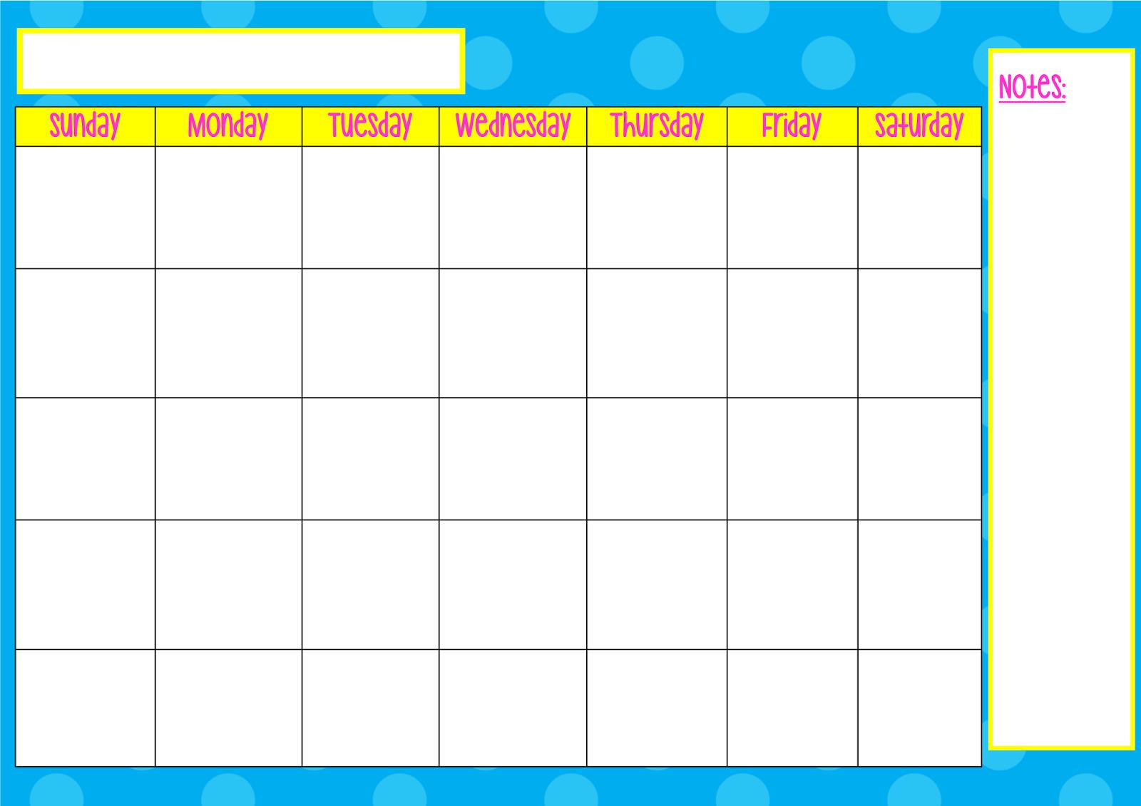 Blank September Calendar Elementary – September printable calendars