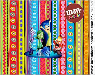Etiqueta M&M para Imprimir Gratis de Del Revés.