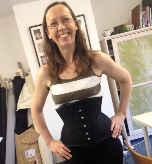 1020390cc Student Roxanne with a corset made from exactly the same pattern as above
