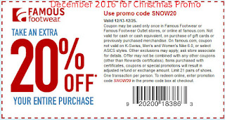 Famous Footwear coupons december