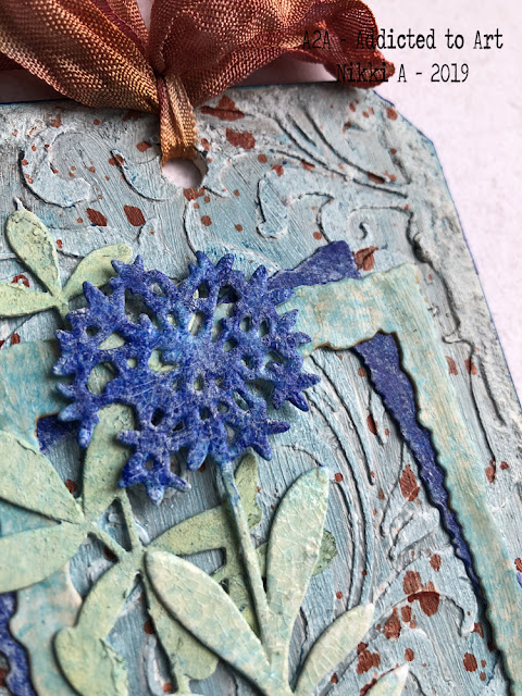 Tim Holtz Faceted Heart and new Wildflowers - Tag Friday