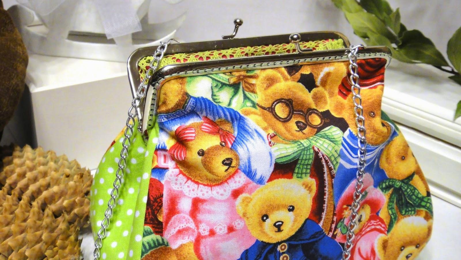 Новогодний подарок Винтажные мишки Тедди - косметичка девушки