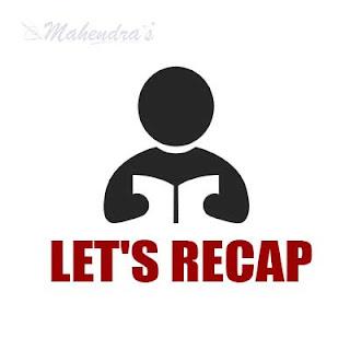 Let's Recap : 21.09.2017