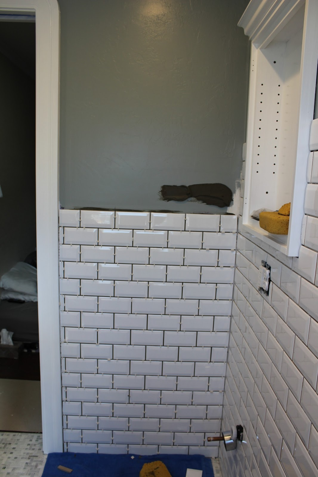 Rectangular Bathroom Tiles 17 White That Last Little Wall Of Tile