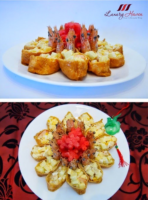 chinese new year laughing prawn salad recipe