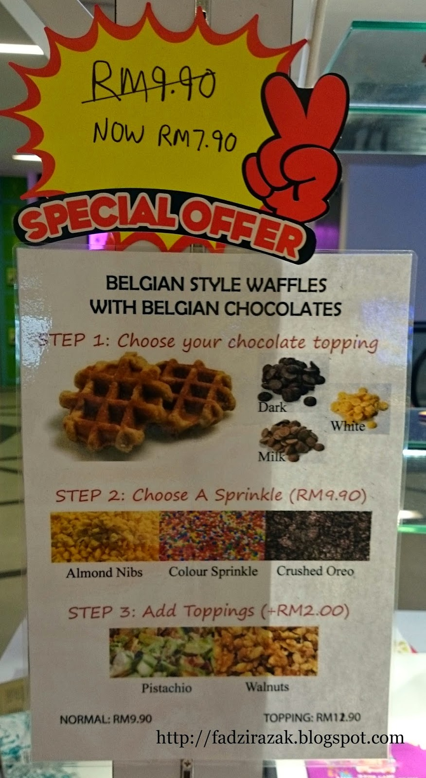 Belgian Style Waffle with Belgium Chocolate