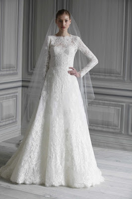simple lace wedding gown