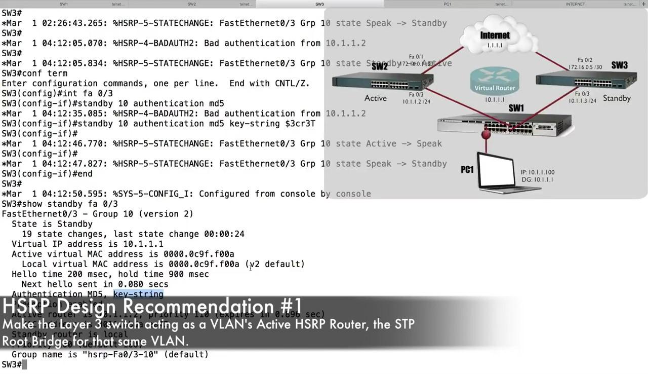HSRP Configuration | Best Cisco CCNA CCNP and Linux/CentOS