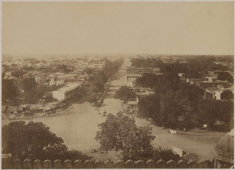 Chandni Chowk or Silver Street, from the Palace - Delhi c.1857-1858