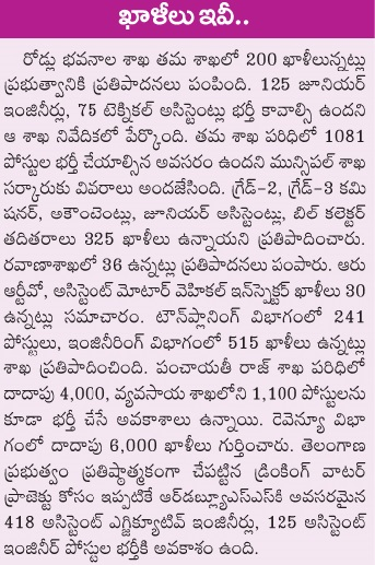 Telangana (TSPSC) New Government jobs Recruitment Notifications 2016 Apply Online