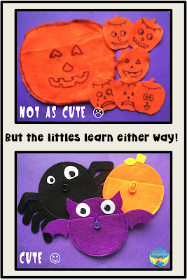 Felt Halloweenies are quick and easy to do!