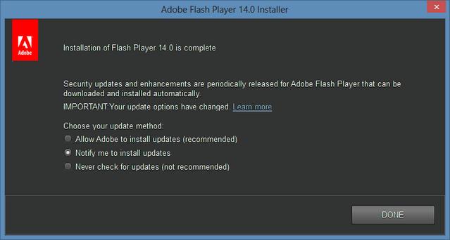 Download Adobe Flash Player 14 Offline Installer (non IE)