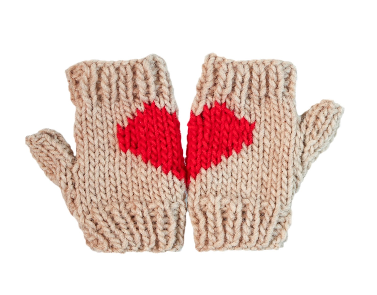 Patrón gratis de guantes para San Valentín - Handbox Craft Lovers ...