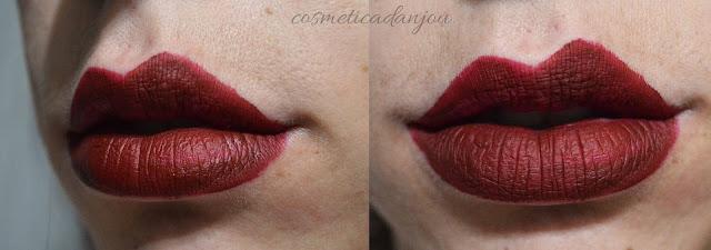 winde burgundy RIRE Lip Manicure High Fix set