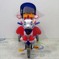 family unicorn sepeda roda tiga boncengan