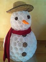 Ce bonhomme de neige est le premier que j'ai réalisé