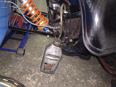 Front brakes ready for bleeding
