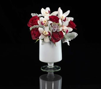 Claret Custom Floral Arrangement Boston