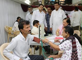नरेन्द्र मोदी के जन्मदिन पर स्वास्थ्य शिविर का आयोजन