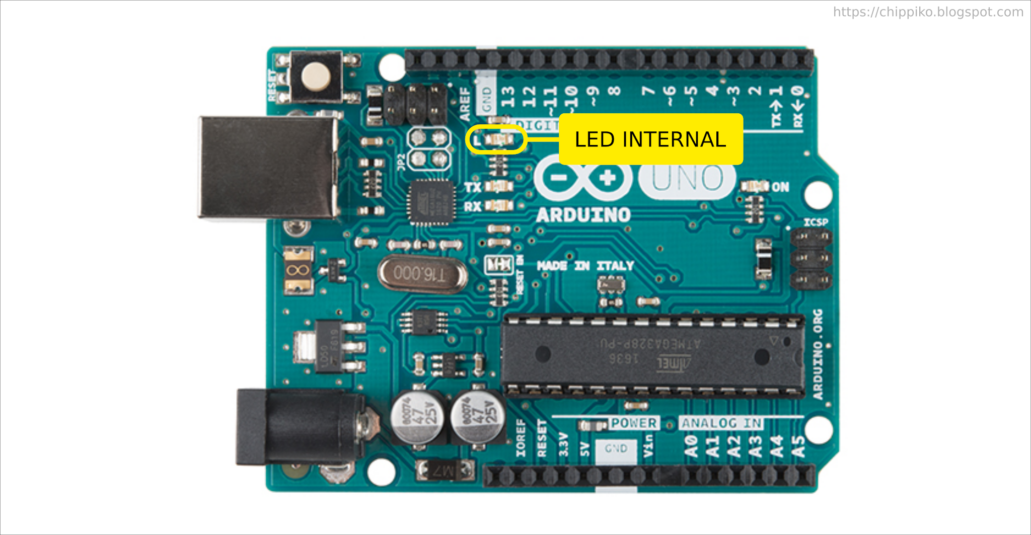 Cara Mengendalikan LED Internal Arduino Uno