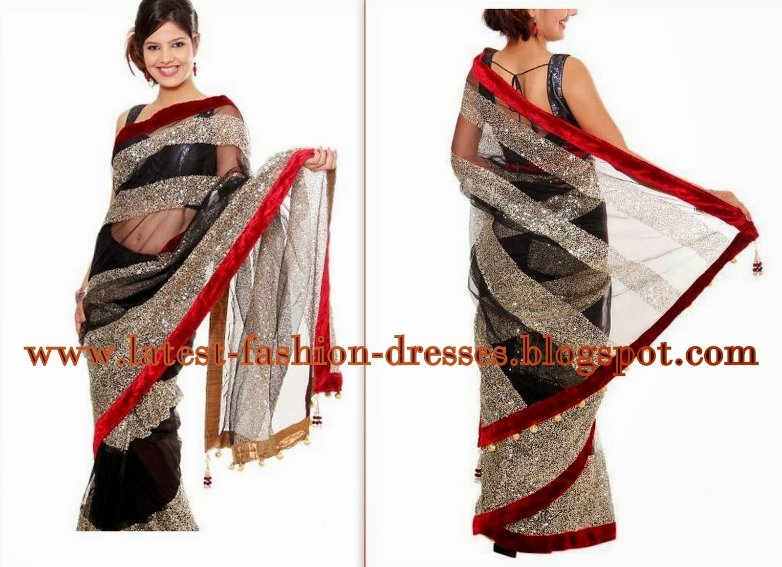 black colour saree